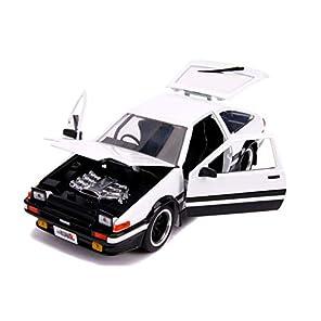 JADA TOYS ミニカー 1/24サイズ 1986 Toyota Trueno AE86 (Glossy White) JDM Tuners