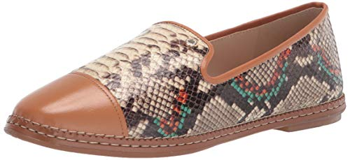 Cole Haan Women's CLOUDFEEL All Day Loafer, Berta Snake PRNT Leather/Pecan Sheep PROZE/DK NAT LTR, 7
