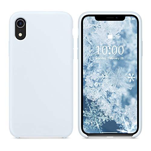 SURPHY Funda Silicona para iPhone XR, Carcasa con Superfino Pelusa Forro, Funda para Silicona Teléfono Anti-rañazos de 6.1 Pulgadas para iPhone XR, Sky Blue