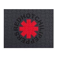 ケース レッドホットチリペッパーズ アメリカ ロックバンド ロゴ ジグソーパズル ジグソーパズル 108ピース 23×18cm 子供と高齢者に適しています