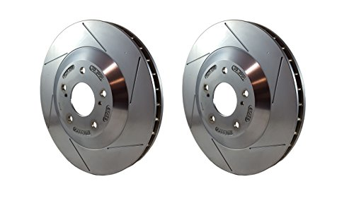 Racing Brake Slotted Rotors for Chevrolet Corvette...