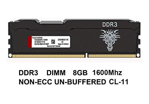 Yongxinsheng 8GB DDR3 DIMM 240-pin 1600MHz(PC3-12800 ) CL11Ram Memory Stick Module for Desktop