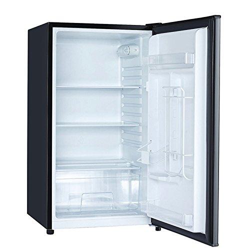Magic Chef MCBR440B2 4.4 Cubic Feet Compact Mini Refrigerator & Freezer with Adjustable Temperature Control, Black