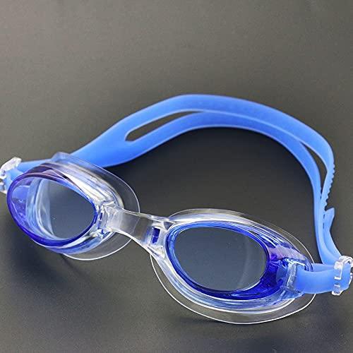 JSJJAUJ Zwembril Professionele Kind Zwembril Anti-condens Zwemmen Kind Eyewear UV Gekleurde Lens Verstelbare Duiken Zwembril (Kleur: Blauw)