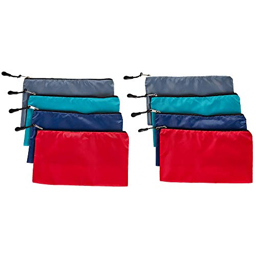 HOMEST 8 Pack Blank DIY Bag with Zipper, Small Craft Pouch, Heat Press Accessories, Gift for Wedding