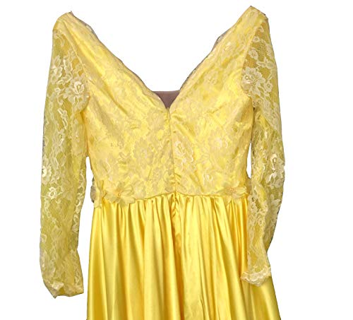 Honeydress-Womens-Sexy-Deep-V-Neck-Long-Sleeve-Floral-Lace-Train-Prom-Dress
