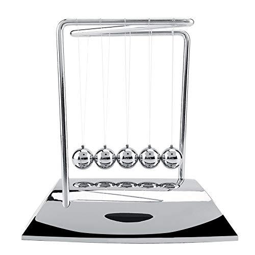Balance Balls, Newton's Cradle Balance Bolas de Acero Física Ciencia Bolas de Péndulo Ciencia educativa Gadget Adornos Escritorio (Astilla)