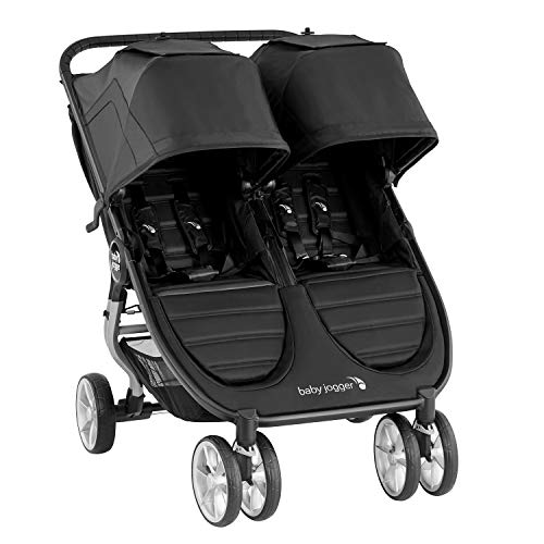 Baby Jogger City Mini 2 Double Pushchair | Lightweight, Foldable & Compact Double Stroller | Jet (Black)