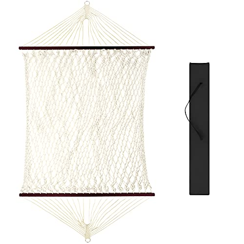 Best Choice Products 2-Person Woven Cotton Rope Double Hammock for Porch, Backyard, Patio,...