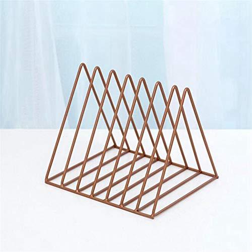 PPLAS Nordic triángulo joyería Simple Caja de Almacenamiento en Rack Revista Hierro Forjado Archivo Estante de Almacenamiento de Escritorio de Oficina (de Cobre) (Color : Other)