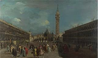Oil Painting 'Francesco Guardi - Venice - Piazza San Marco (1),about 1760' Printing On High Quality Polyster Canvas , 10x17 Inch / 25x43 Cm ,the Best Kids Room Gallery Art And Home Artwork And Gifts Is This High Resolution Art Decorative Canvas Prints
