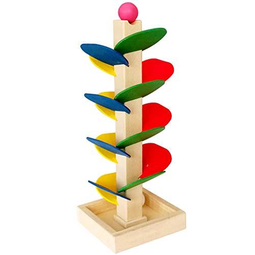 DIY Kugelbahn Murmelbahn Gebäude Spielzeug Konstruktionsspielzeug, aus Holz