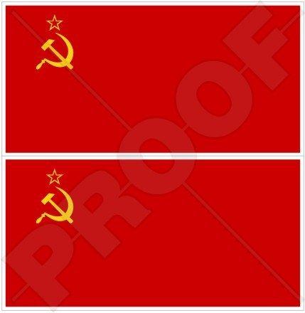 Sowjetunion Flagge UDSSR kommunistischen Russland, russisch 109,2cm 110) Bumper Sticker, Aufkleber Vinyl X2