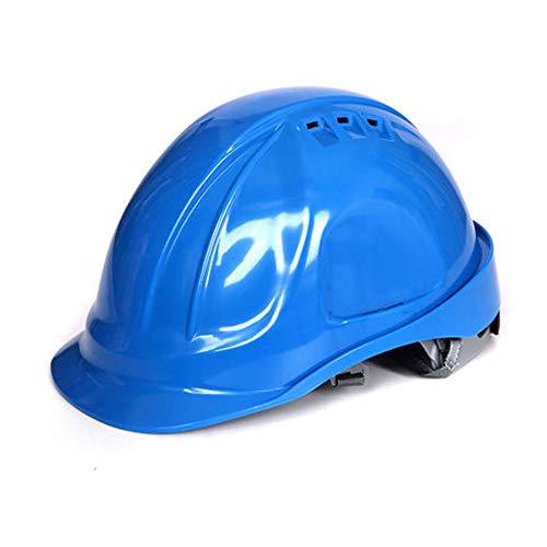 CXQBYNN Bauhelm, M-Typ Hochfester ABS-Hut Mit Helm, Kopfschutz Für Arbeitsschutz, Mehrfarbig Optional (Color : Blue)