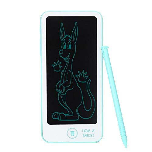 Tablero de Doodle LCD, Viene con lápiz, Tableta de Escritura LCD, Escritura de Dibujo de plástico para niños pequeños Que estudian(Blue)