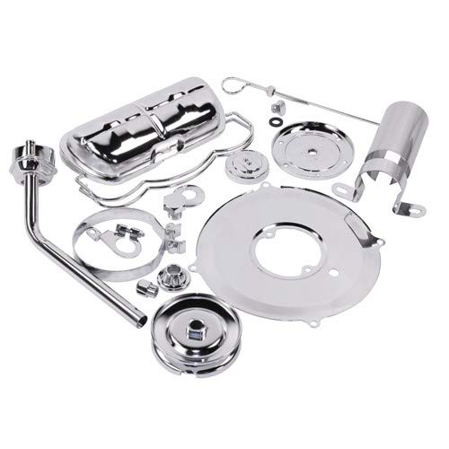 Super Chrome Deluxe Dress Up Kit, For Aircooled VW Engines, Compatible with Dune Buggy