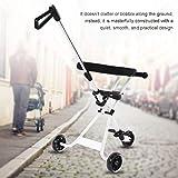 AYNEFY Cochecito de Bebé Plegable,Blanco Carga 30 kg Plegable Ligero Portátil Bebé Triciclo de Aluminio Carro Plegable de Tres Ruedas para bebé para Viajer al Aire Libre con Niños Bebés