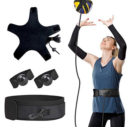 TOBWOLF Volleyball-Trainingspass Rite Aid Widerstandsband, elastisches Volleyball-Widerstandsgürtel-Set zum Üben von Servieren, Armschwingen, Beweglichkeitstraining, Trainingsgürtel mit Taillengürtel