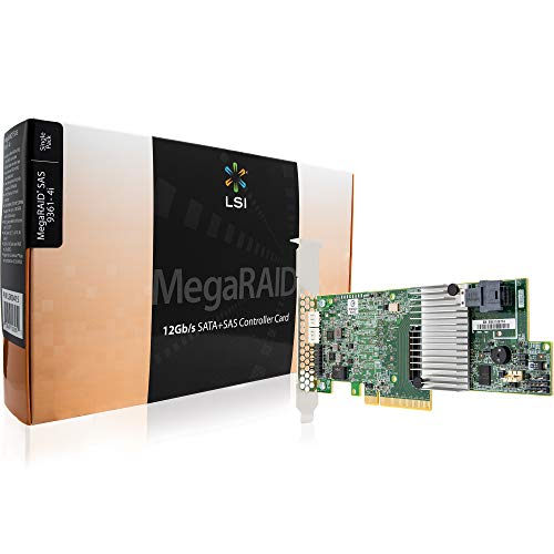 LSI MegaRAID SAS 9361-4i 4-Port 12Gb/s SAS+SATA PCI-Express 3.0 Low