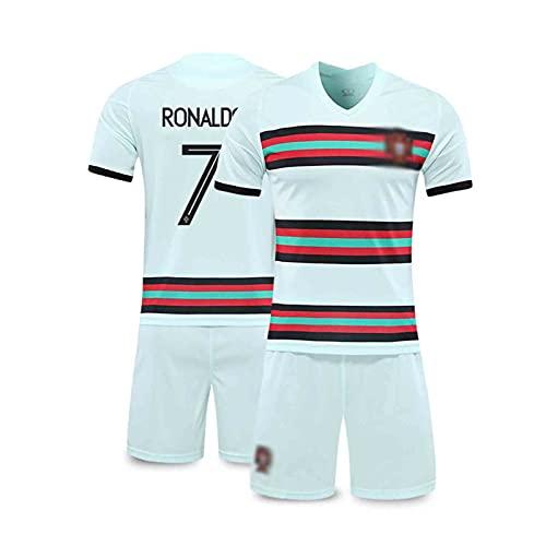 2021 Rónaldó Portugal Home and Weew Football Jersey, Adultos y niños Traje, Transpirable y Secado rápido green7-26