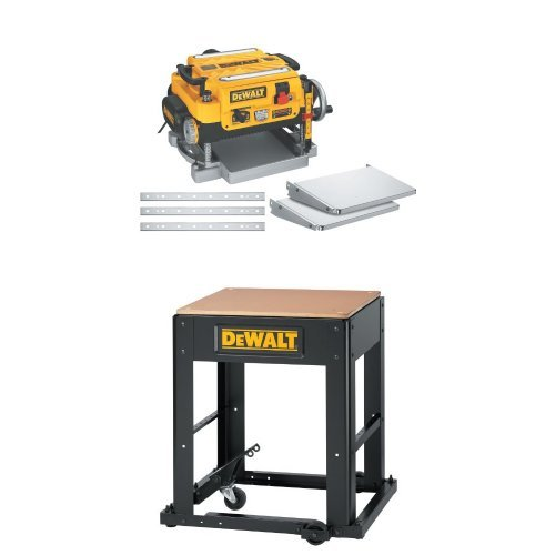 """DEWALT DW735X 13"""" Two-Speed Planer Package with DW7350 Planer Stand with Integrated Mobile Base"""