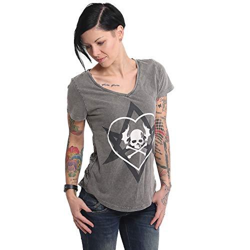 Yakuza Damen 893Love Allover V-Neck Dye T-Shirt
