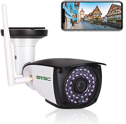 SV3C HD 5MP Videocamere di Sorveglianza Esterno Wi-Fi Telecamera IP wifi con Rilevamento del Movimento, Audio Bidirezionale, Visione Notturna, IP66, Vista a Distanza Via Phone Tablet Windows