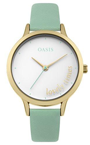 Oasis Damen Datum klassisch Quarz Uhr mit PU Armband B1603