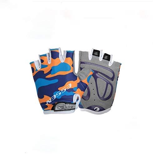 JIAHE115 Mini handschoenen Half Finger Handschoenen, Kinderfiets Riding Handschoenen Lente En Zomer Schaatsen Korte Siliconen Mannen En Vrouwen Sport Handschoenen