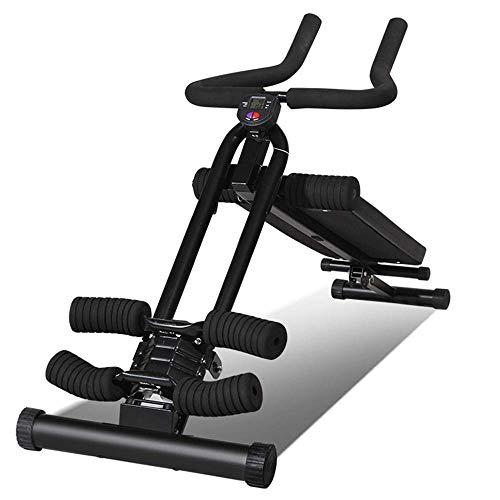qazxsw Multifunktionale Ausrüstung für zu Hause, 3-in-1-Hantelbank in Rückenlage, Bauchrudergerät, leise Riemenscheibe, U-förmiges Knieschoner, LED-Kalorienanzeige