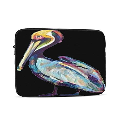 Colorful Pelican Von Robert Phelps 10-17 Inch Classic Computer Bag Laptop Case Carrying Bag Chromebook Case Notebook Bag Tablet Cover,12 inch