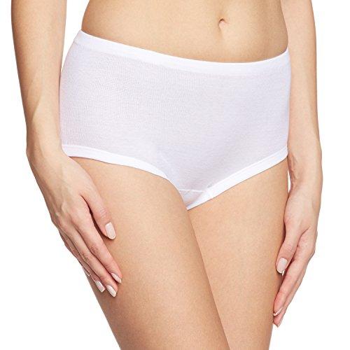Calida Damen Taillenslip Midislip/Hosen, Einfarbig, Gr. 46 (Herstellergröße: 46), Weiß (weiss 001)