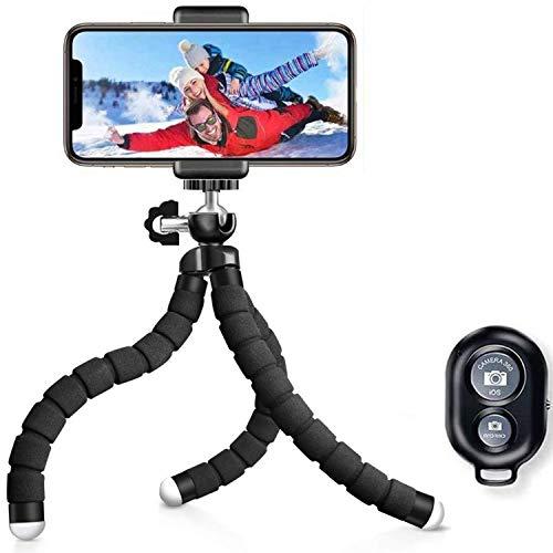 Handy Stativ Smartphone iPhone Stativ Halter mit Handy Halterung und Bluetooth Fernbedienung Kamera Stativ für iPhone,Samsung, Huawei, Sony