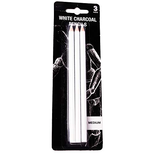 Gobesty Lápiz, lápices de dibujo de carbón blanco, lápices de dibujo profesional, lápices de acuarela lisos, para bocetos, lápices de colores, juego de herramientas para arte fino
