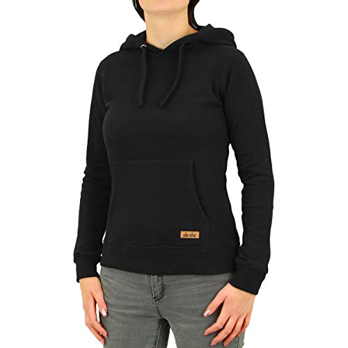 derbe Hamburg Petite DOTS Sweat Damen Sweatshirt, Größe:XL, Hamburg Farben:Black