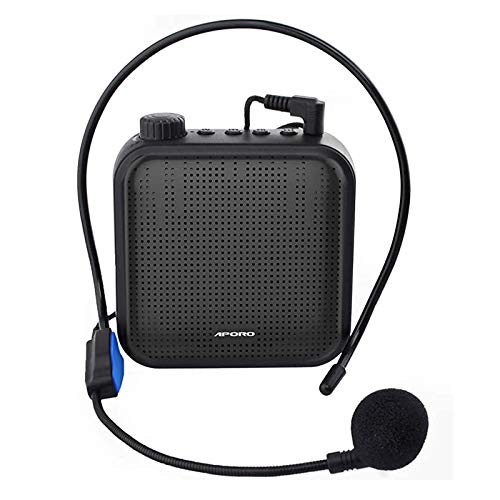 Portable Voice Amplifier Rechargeable HiFi Wireless Stereo Speaker Bluetooth Rechargeable Loudspeaker PA System Speaker Support TF USB AUX for Teachers, Sales Speakers, for Classroom, Outdoor (Black)