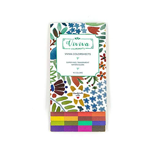 Viviva Colorsheets, Single Set, 16 Colors