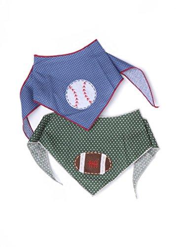 Tail Trends Sports Dog Bandanas Hand Made Appliques Basketball Baseball Football Designs