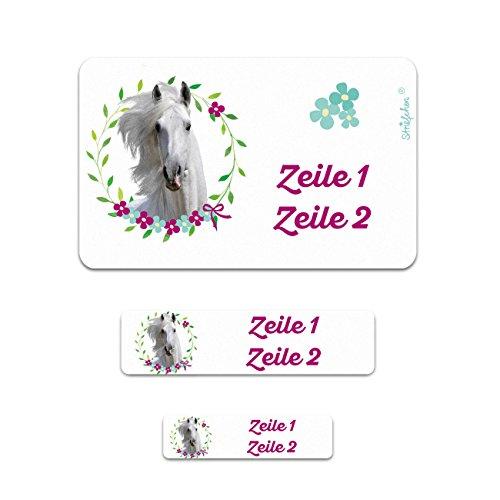 Striefchen® Pferd Schuletiketten mit Namensaufdruck - perfekt für den Schulstart 200 Stück