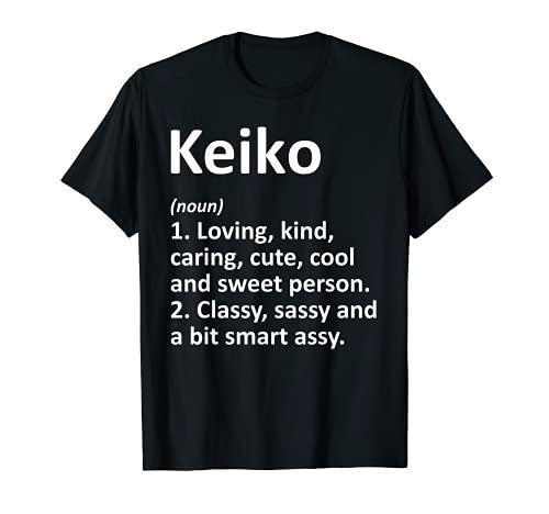 KEIKO 定義 名前入り 面白い誕生日ギフトアイデア Tシャツ