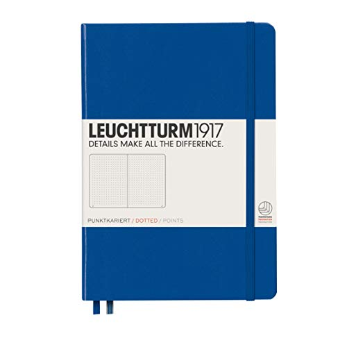 LEUCHTTURM1917 - Medium A5 Dotted Hardcover Notebook (Royal Blue) - 251 Numbered Pages