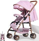 SYue Cochecitos de bebé del Cochecito de conveniencia, Infantil 3D Mini conveniencia Cochecito Ligero fácil de reclinar el Asiento, antichoque, con Cerradura Ruedas traseras, Fácil de 3 Pasos Fold
