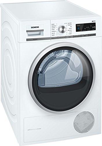 Siemens WT47W56A Kondenstrockner/A++ / 8 kg/Großes Display mit Endezeitvorwahl/Selbstreinigungs-Automatik/weiß