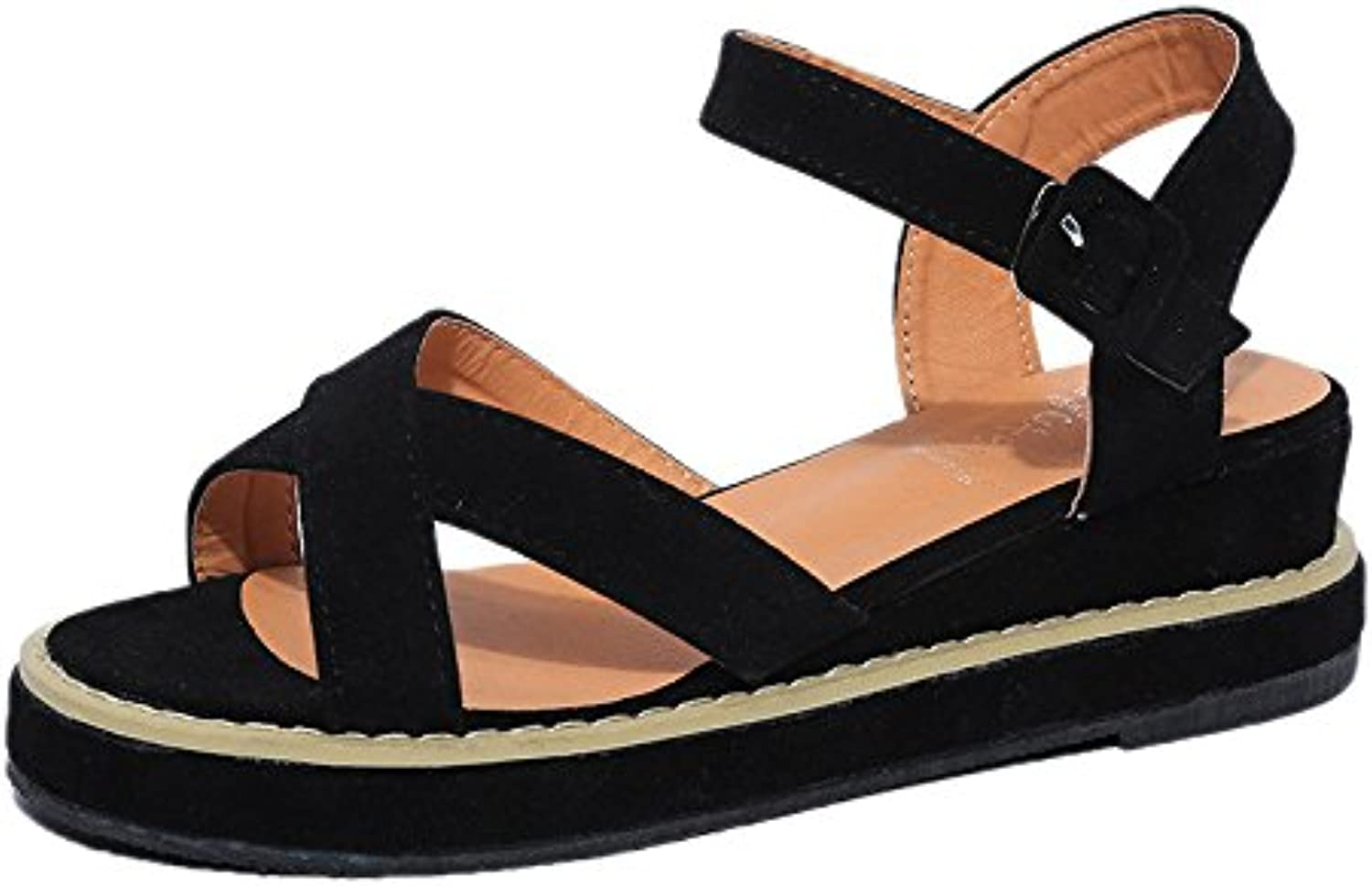 KAI-Flat heel sandals with flat sandals and sandals,black,Thirty-nine