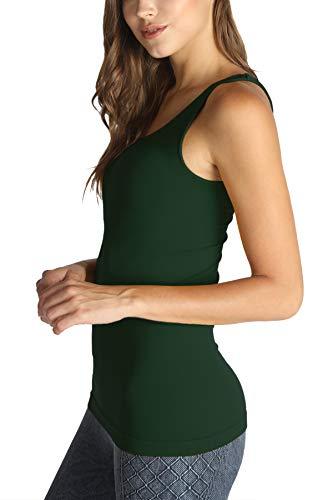 NIKIBIKI Women Seamless Premium Classic Tank Top, Made in U.S.A, One Size (Cypress Green)