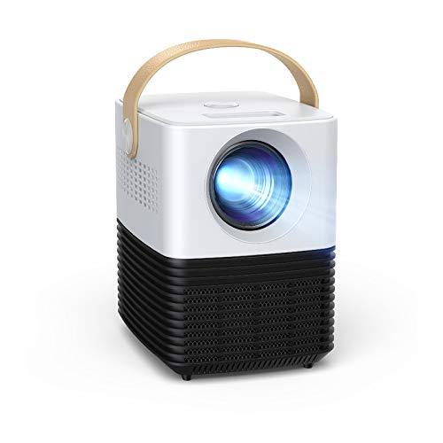 Mini proyector, APEMAN Pantalla Grande Soporte 1080P, ± 30° Corrección Electrónica Remota, Altavoces Duales, 50,000 Horas, Compatible...