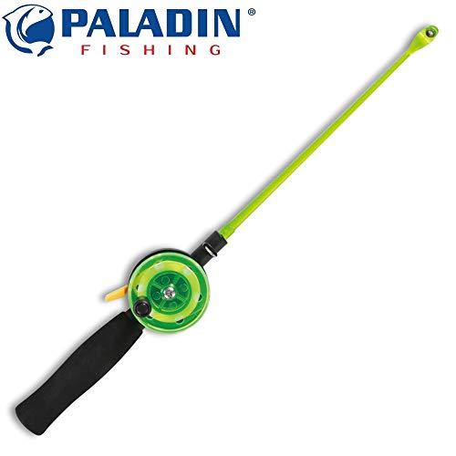Paladin Eisangel-Set - Eisrute & Rolle zum Eisangeln auf Forellen & Barsche, Angelrute & Angelrolle zum Forellenangeln auf dem Eis