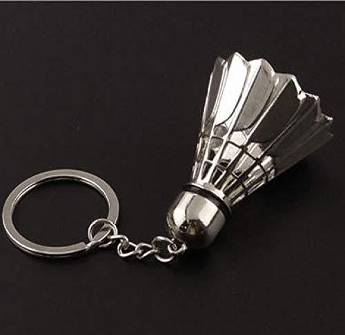 XVCHQIN Schlüsselmäppchen für Kreative Badminton Charme Schlüsselanhänger Schlüsselanhänger Für Auto Souvenirs Kreative fit Männer Frauen Schmuck Geschenk, Weiß