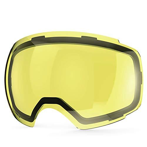 ZIONOR Lagopus X4 Ski Snowboard Snow Goggles Replacement Lenses (VLT 54% Bright Lens)