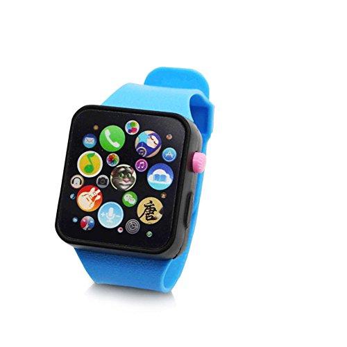 Metermall Home Children Multifunctioneel speelgoedhorloge Touchscreen Smartwatch-polshorloge voor vroegschoolse blauwe horlogebandjes